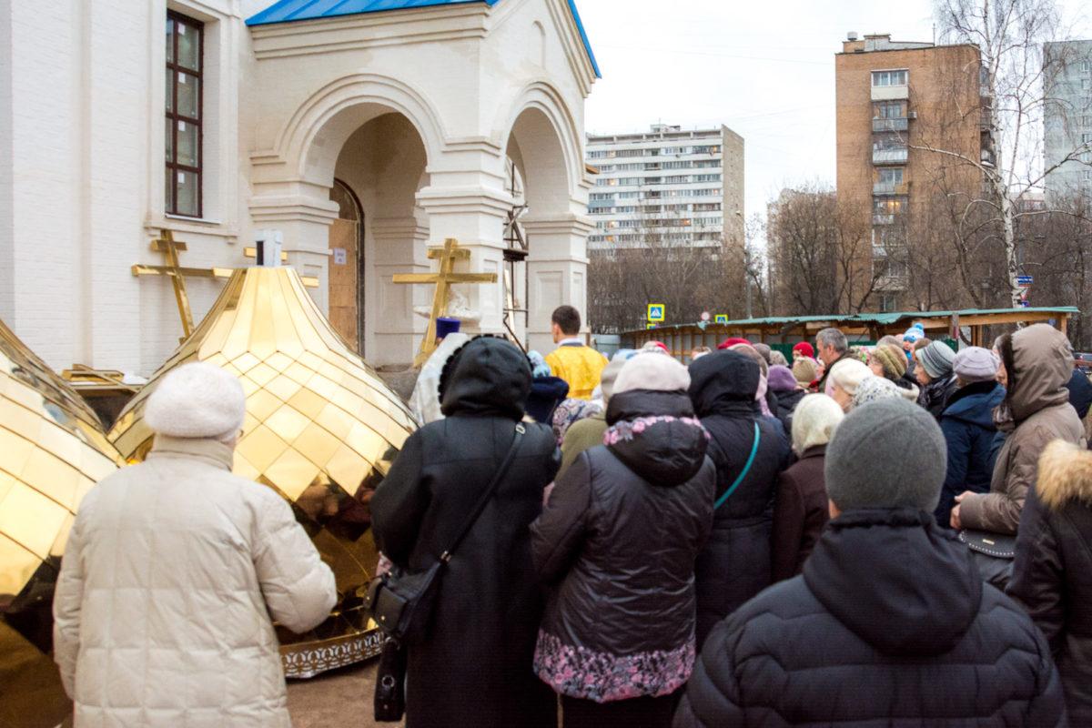 Освящение куполов и крестов храма св. Ольги