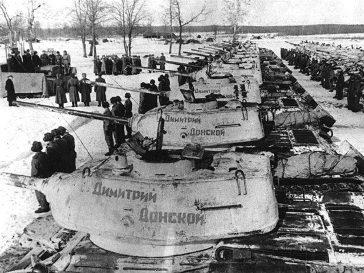 Создание верующими танковой колонны «Димитрий Донской»