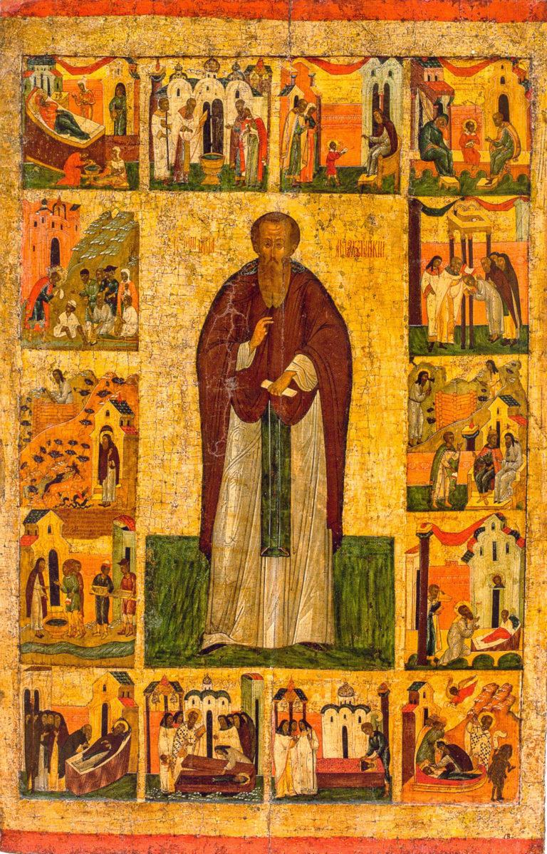 Воскрешение ребенка прп.Варлаамом Хутынским