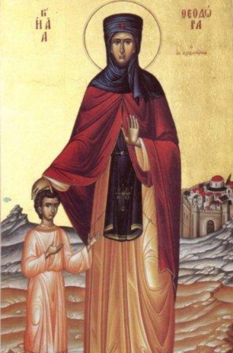 Память преподобной Феодоры Александрийской