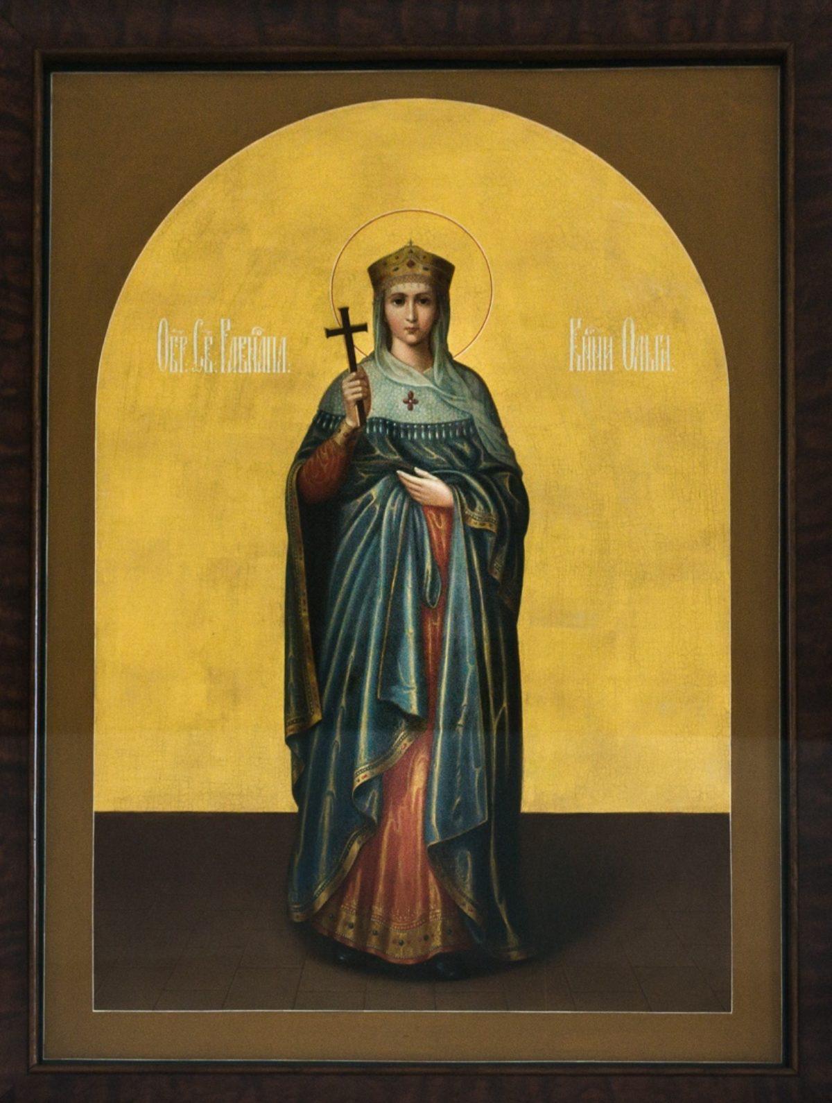 Передача старинной иконы княгини Ольги с Афона в храм княгини Ольги в Останкино