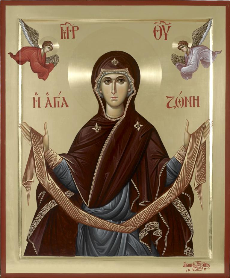 Положение честного пояса Пресвятой Богородицы в Константинопольском Влахернском храме