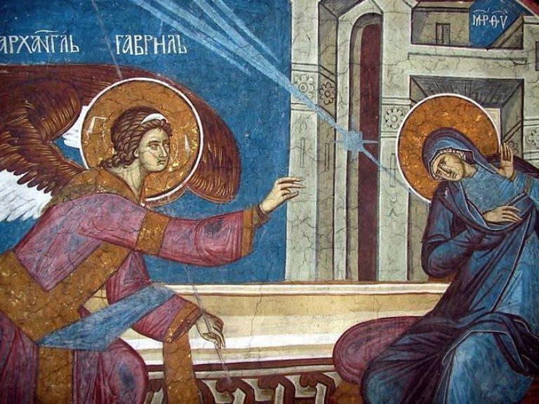Благовещение Пресвятой Богородицы. Евангелие архангела Гавриила