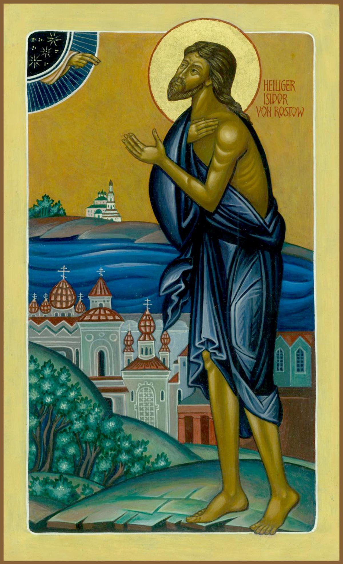 Святой Исидор Твердислов, Христа ради юродивый