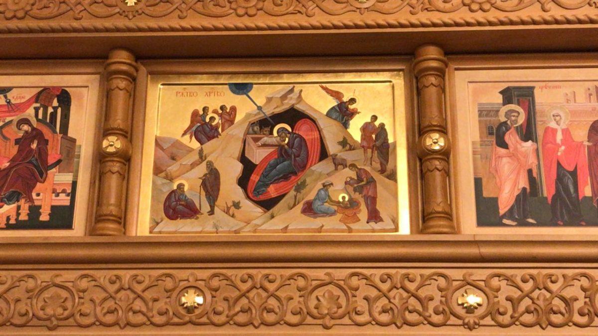 Иконы в праздничном ряду иконостаса