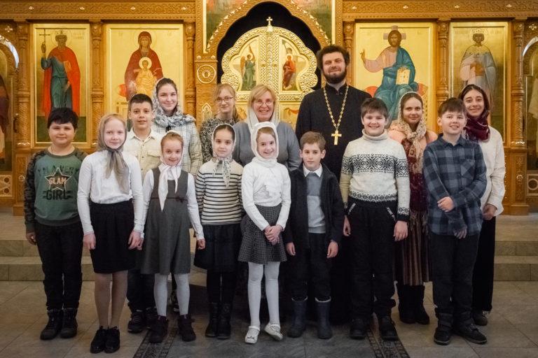 Лазарева суббота: детский хор